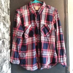 A multicolored flannel
